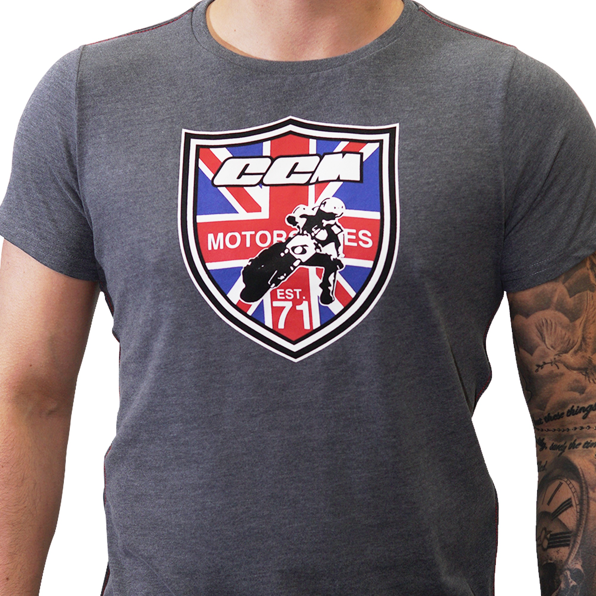 CCM Motorcycles   Official CCM Union Jack Marco Belli Crew Neck Tee ...